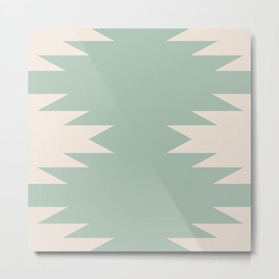Geometric Southwestern Minimalism - Sage Green Metal Print ...