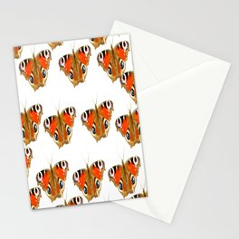 Beautiful Peacock Butterflies On A White Background #decor #society6 Stationery Cards