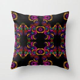 dark mexican Throw Pillow