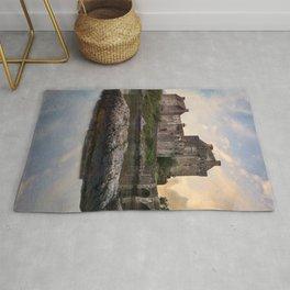 Eilean Donan Castle at sunrise Rug