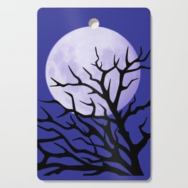 night tree and moon Cutting Board