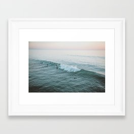 lets surf v Framed Art Print