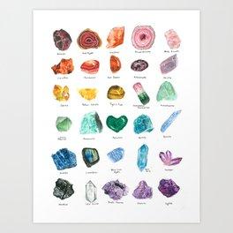 Rainbow Chart Art Print