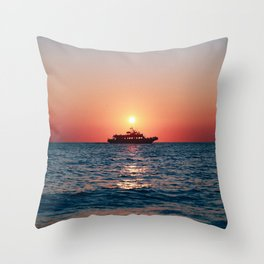 Cape May Sunset Cruise Throw Pillow
