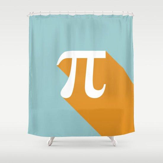 Retro Pi Shower Curtain