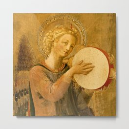 """Fra Angelico (Guido di Pietro) """"Music-making angel, Detail from the Linaioli Tabernacle"""" 8. Metal Print"""