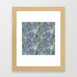 digital stones Framed Art Print