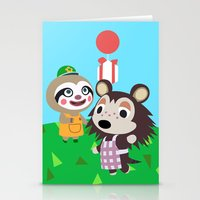 animal crossing Stationery Cards featuring Animal Crossing by Alex Owen