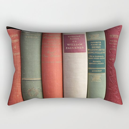 Old Books - Square Rectangular Pillow