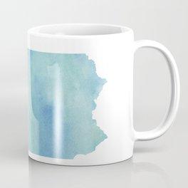 Watercolor State Map - Pennsylvania PA blue greens Coffee Mug