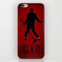 rock n roll iPhone & iPod Skins featuring Rock N Roll by Eleanor Rose