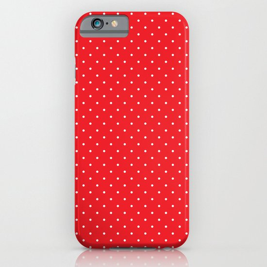 White polka dots on red iPhone & iPod Case