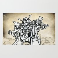 transformer Area & Throw Rugs featuring Transformer by Dave Houldershaw