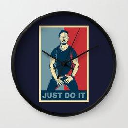 Shia Labeouf Just Do It Wall Clock