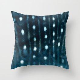 Whale skin Throw Pillow