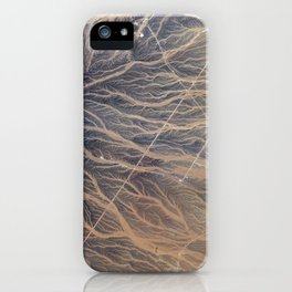 219. Fingerprints of Water on the Sand iPhone Case