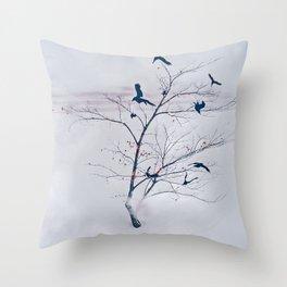 WHITEOUT/light grey Throw Pillow