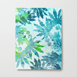 Tropical adventure - Blue Metal Print