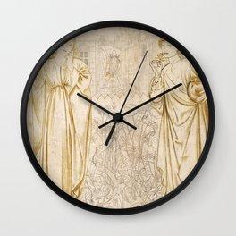 "Edward Burne-Jones ""Chaucer's 'Legend of Good Women' - Hypsiphile And Medea"" Wall Clock"