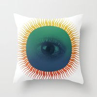 third eye Throw Pillows featuring Third Eye by ochre7