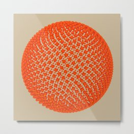 Fibo Orb (red) Metal Print