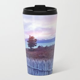 Sunset and lone tree Metal Travel Mug