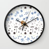 robin Wall Clocks featuring Robin by Ornaart