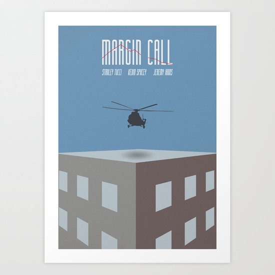 Margin Call, Minimal Movie Poster, Kevin Spacey, Stanley Tucci, Demi Moore Art Print