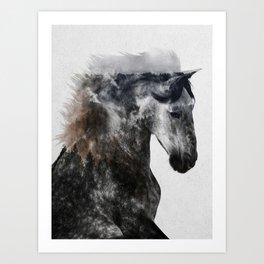 Proud Stallion alt. version Art Print