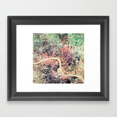 London Mosaic Map #1 Framed Art Print