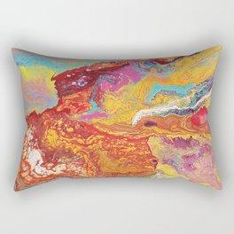 Fiery Mountain // Paint Pour Art // Blooming Life Project Rectangular Pillow