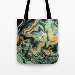 DRAMAQUEEN GOLD EMERALD by Monika Strigel Tote Bag
