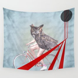 follow the spirit guide on a new path Wall Tapestry