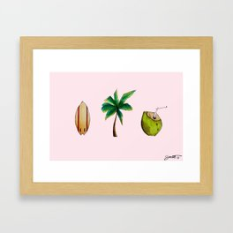 Beachlife Trio Framed Art Print