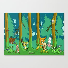 Deep inside the Forest Canvas Print