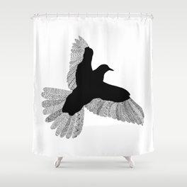 Bird (On White) Shower Curtain