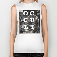 occult Biker Tanks featuring Occult by Mario Zoots