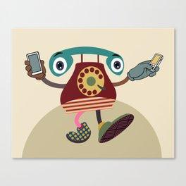 Retro Telecom Chic II Canvas Print