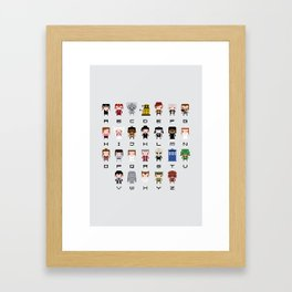 Doctor Who Alphabet Framed Art Print