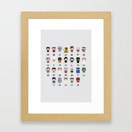Doctor Who Alphabet Framed Art Print