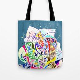 Filanes-45 couleur fond bleu Tote Bag