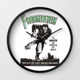 Frankenstein Vintage 1931 Movie Poster, Original Gift Idea, Boris Karloff, Bela Lugosi, Dracula Wall Clock