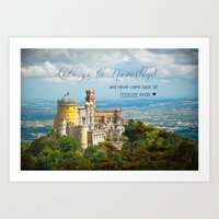 neverland Art Prints featuring Neverland by Sandy Broenimann