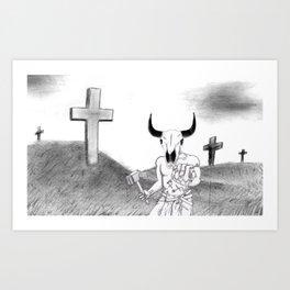 Lord of Golgotha Art Print