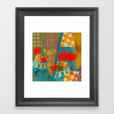 Two Proud Roosters Framed Art Print