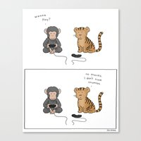 video games Canvas Prints featuring Video Games Are Awesome  by Liz Climo