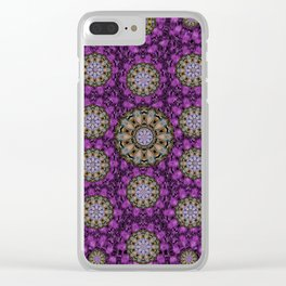 ornate heavy metal stars in decorative bloom Clear iPhone Case