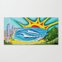 Sunny Surfers Paradise Canvas Print