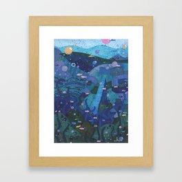 deep sea Framed Art Print