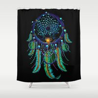 dreamcatcher Shower Curtains featuring DreamCatcher by Emberland